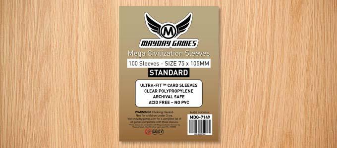スリーブ「Mayday Games 75mm×105mm」