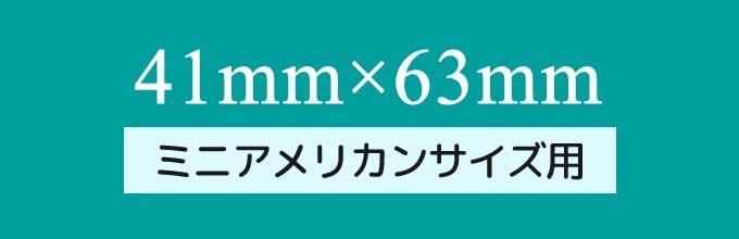 カードスリーブのサイズ「ミニアメリカンサイズ(41mm×63mm)用」