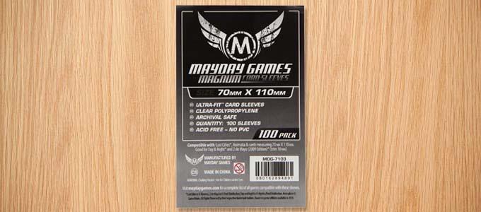 ロストシティサイズに対応しているカードスリーブ:Mayday Games 70mm×110mmサイズ用