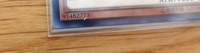 遊戯王カードに『トレカプロテクトのスリーブ』を重ねた写真のアップ
