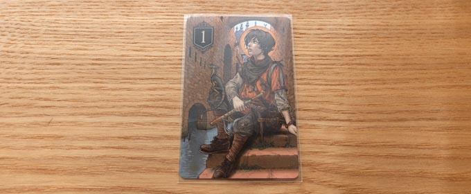 XENOのカードをスリーブに入れた画像