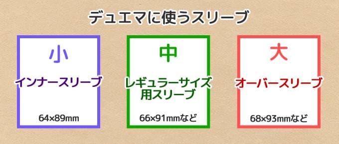 デュエマに使うスリーブ3種類