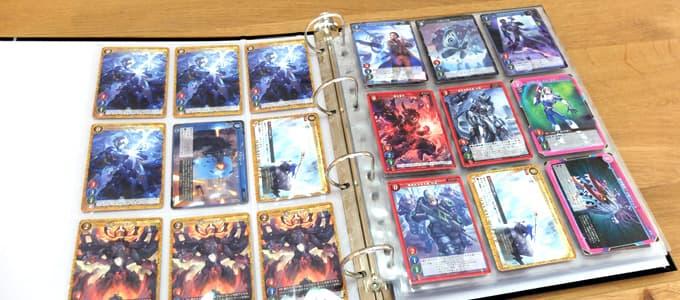ゲートルーラーのカードを収納|エポックトレーディングカードバインダー