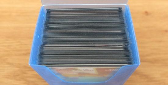 収納枚数|ダイソー トレーディングカードのボックス2個セット
