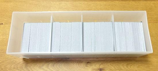 大量のカードが収納できる|無印良品 ポリプロピレンケース・引出式・浅型