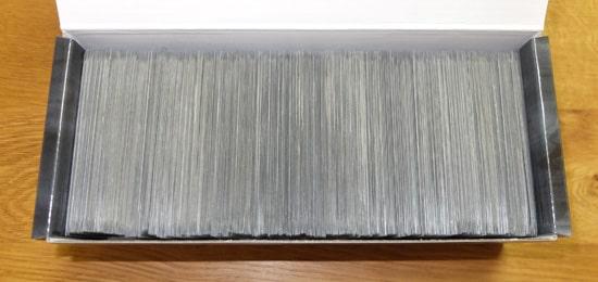 1重スリーブを収納する|ポケカ ロングカードボックス